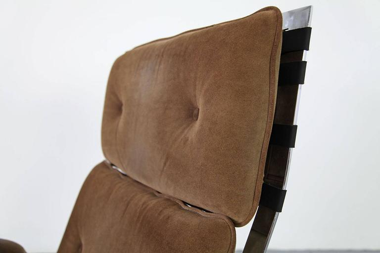 20th Century Suede Lounge Chair