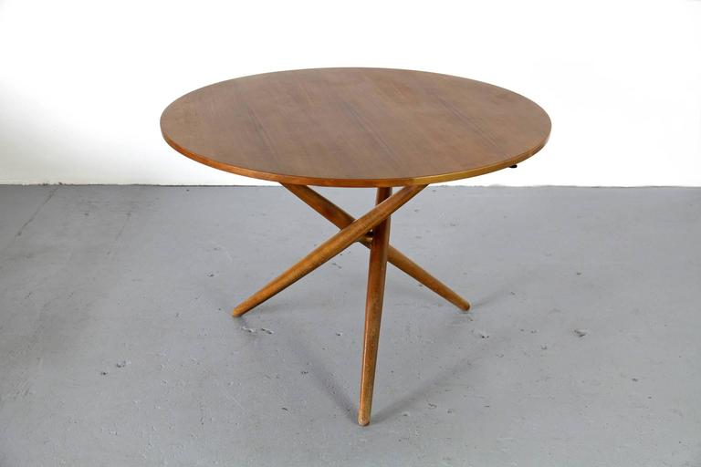 height-adjustable coffee tablejurg bally for wohnhilfe, 1951 at Adjustable Dinner Table