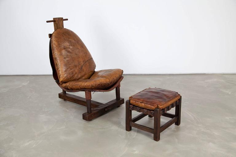20th Century Extravagant Seating Group, Two Lounge Chairs with Ottomans and Bench, Rosewood For Sale