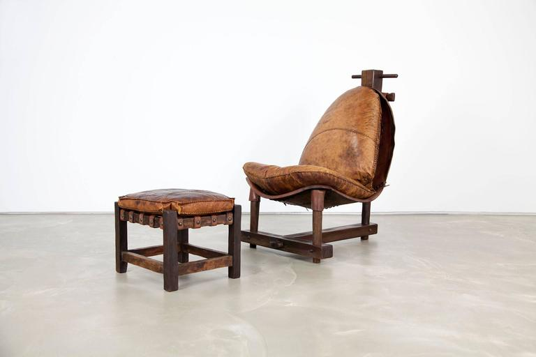 Extravagant Seating Group, Two Lounge Chairs with Ottomans and Bench, Rosewood For Sale 2