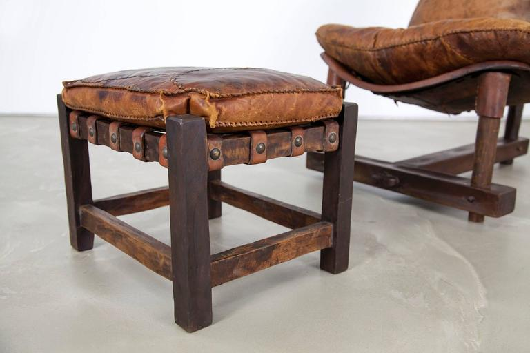 Extravagant Seating Group, Two Lounge Chairs with Ottomans and Bench, Rosewood For Sale 4