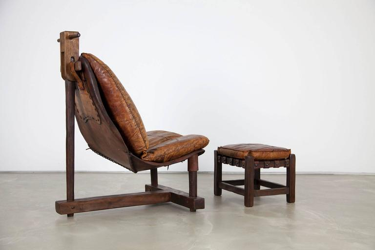 Extravagant Seating Group, Two Lounge Chairs with Ottomans and Bench, Rosewood For Sale 1