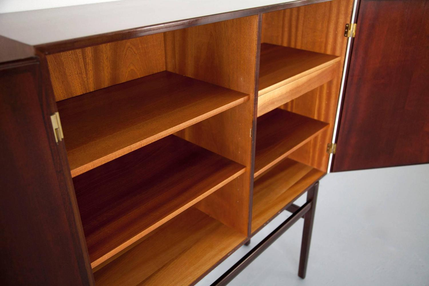 Mahogany cabinet designed by ole wanscher produced by p for P jeppesen furniture