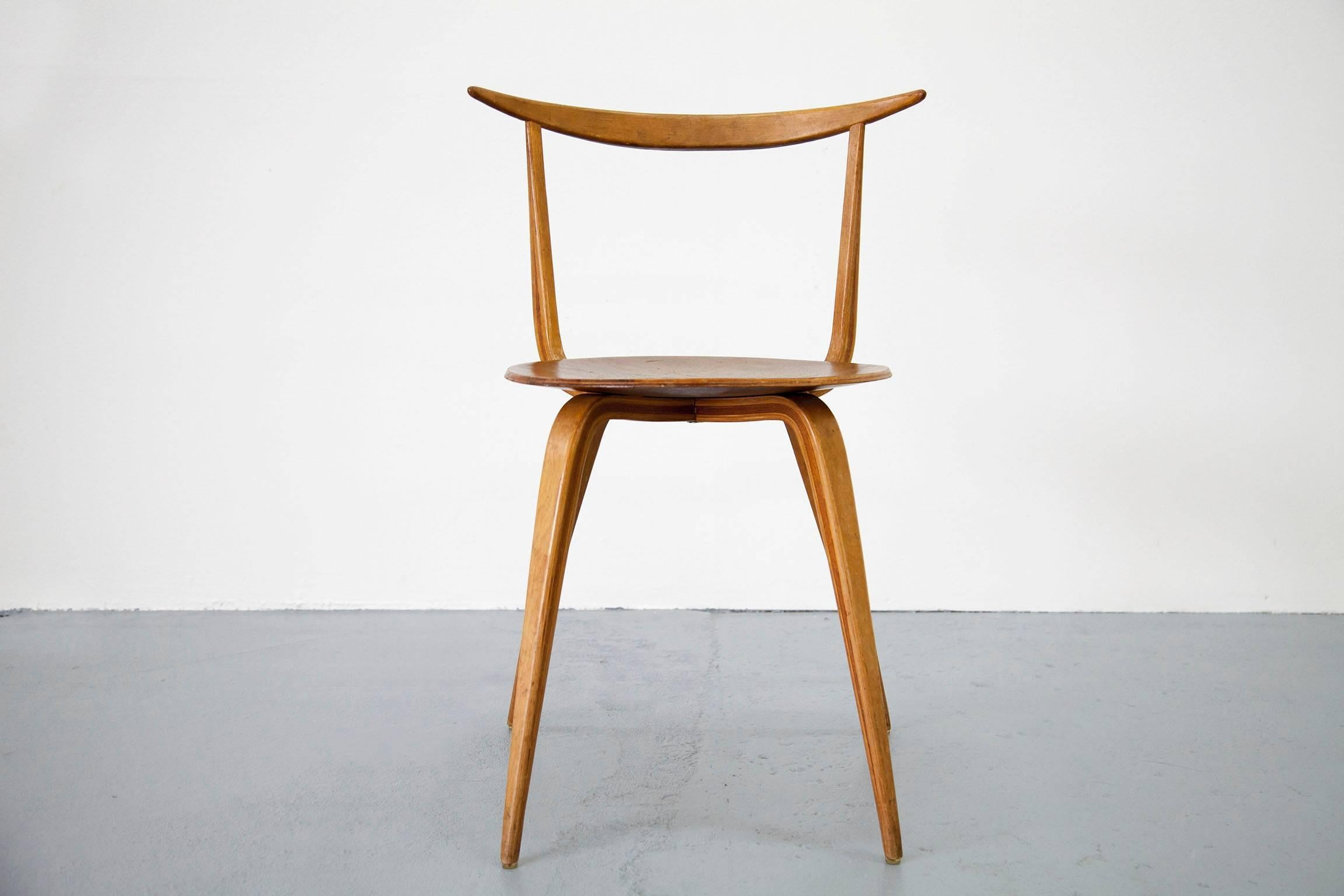 Early Version Of The Rare Pretzel Chair By George Nelson For Sale At 1stdibs