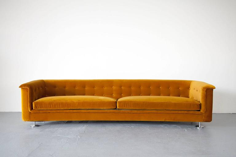 Lounge sofa  Seating Group by Hans Kaufeld, Sofa and Lounge Chair in Velvet For ...