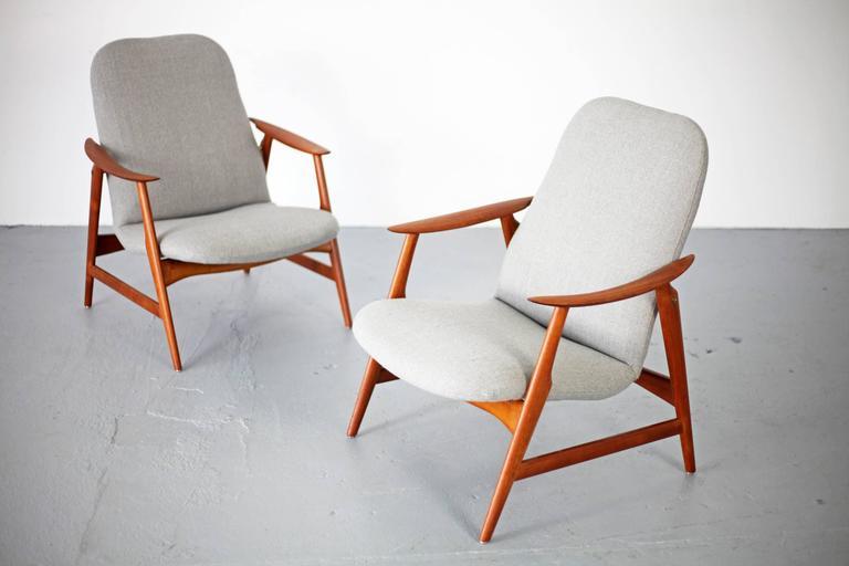 Two Mid-Century Modern Teak Easy Chairs 2