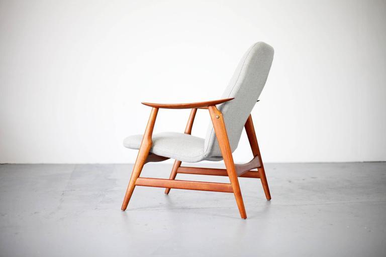 Two Mid-Century Modern Teak Easy Chairs 8