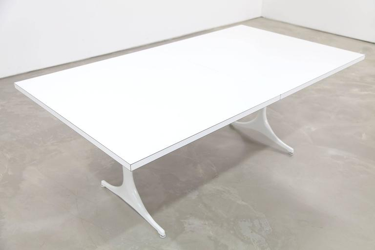 Dining Table Designed By George Nelson In 1956 This Can Be Extended Two
