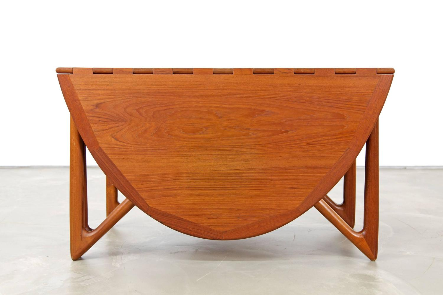 Drop Leaf Table By Kurt 216 Stervig Made In Denmark At 1stdibs