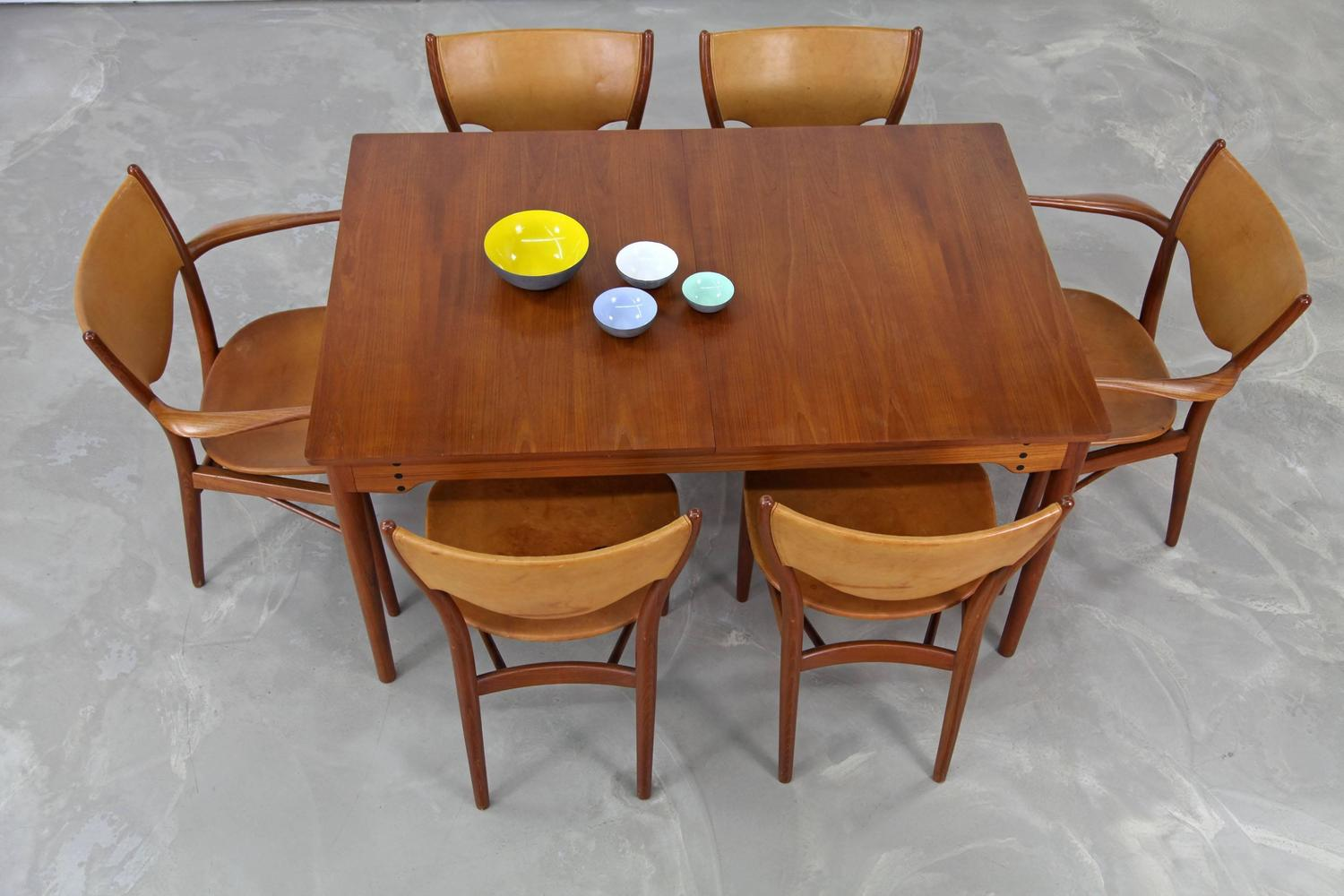 teak dining set by finn juhl produced by bovirke with