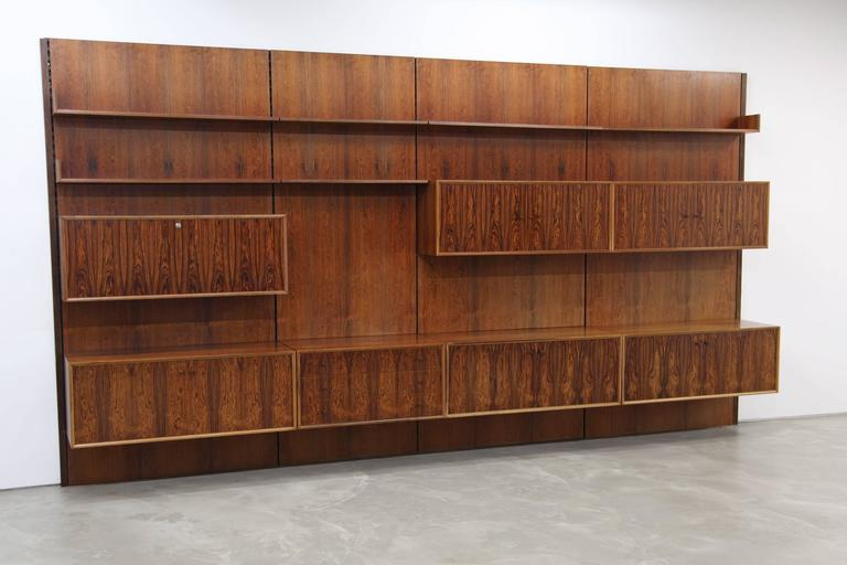 rosewood wall unit from the 1960s  germany for sale at 1stdibs Teak Spine Wall Shelf teak wall shelves for sale