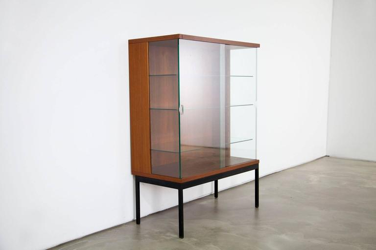 teak showcase display by dieter weackerlin for behr mobel 1958 at