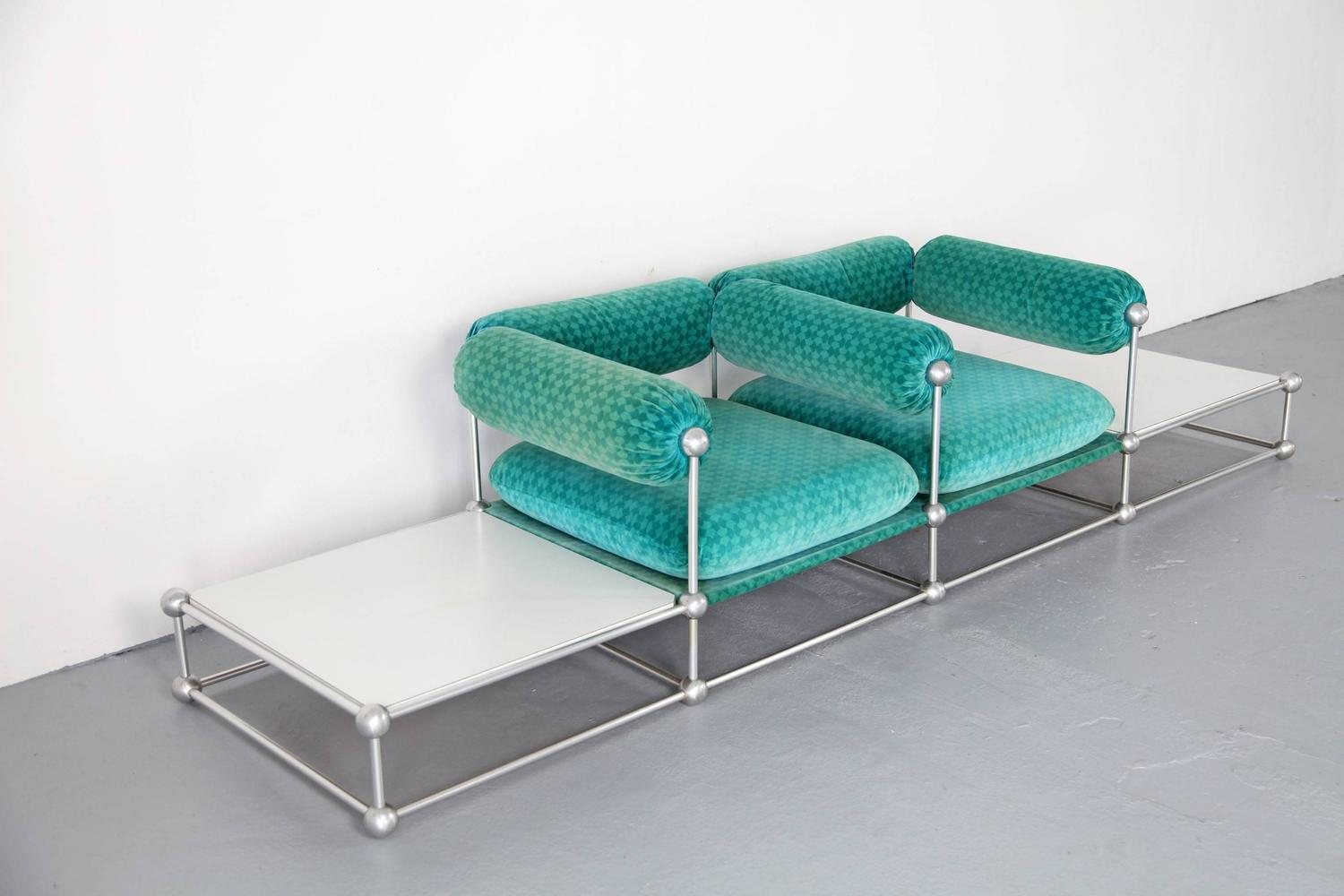 Two Seat Sofa With Tables S420 Modular Seating By Verner