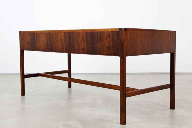 Rare Rosewood Desk by Kurt Østervig for Jason Møbler, 1957 In Excellent Condition For Sale In Munster, DE