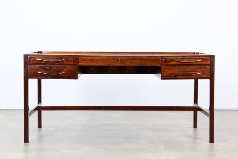 Scandinavian Modern Rare Rosewood Desk by Kurt Østervig for Jason Møbler, 1957 For Sale