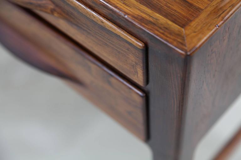 Rare Rosewood Desk by Kurt Østervig for Jason Møbler, 1957 For Sale 2