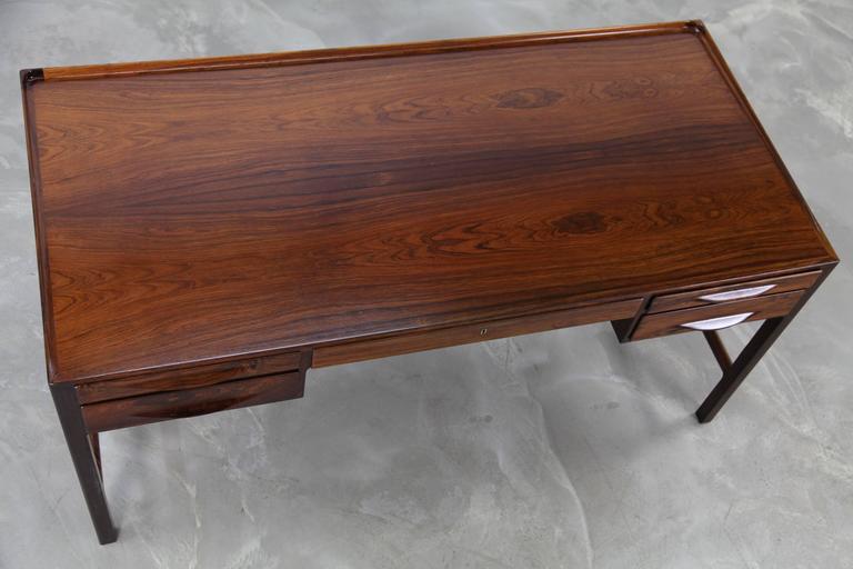 Rare Rosewood Desk by Kurt Østervig for Jason Møbler, 1957 For Sale 3