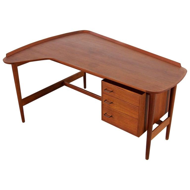 Teak Desk by Arne Vodder for Bovirke, Denmark, Model BO85