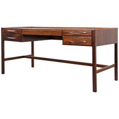 Rare Rosewood Desk by Kurt Østervig for Jason Møbler, 1957