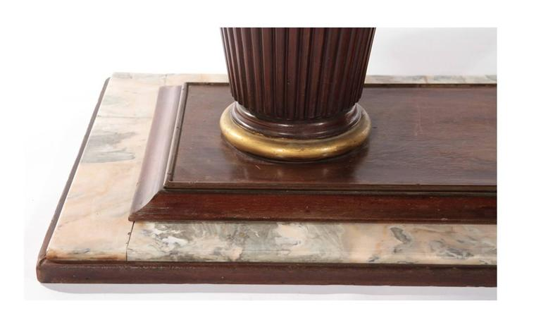 mahogany and marble art deco dining room table, circa 1935 for