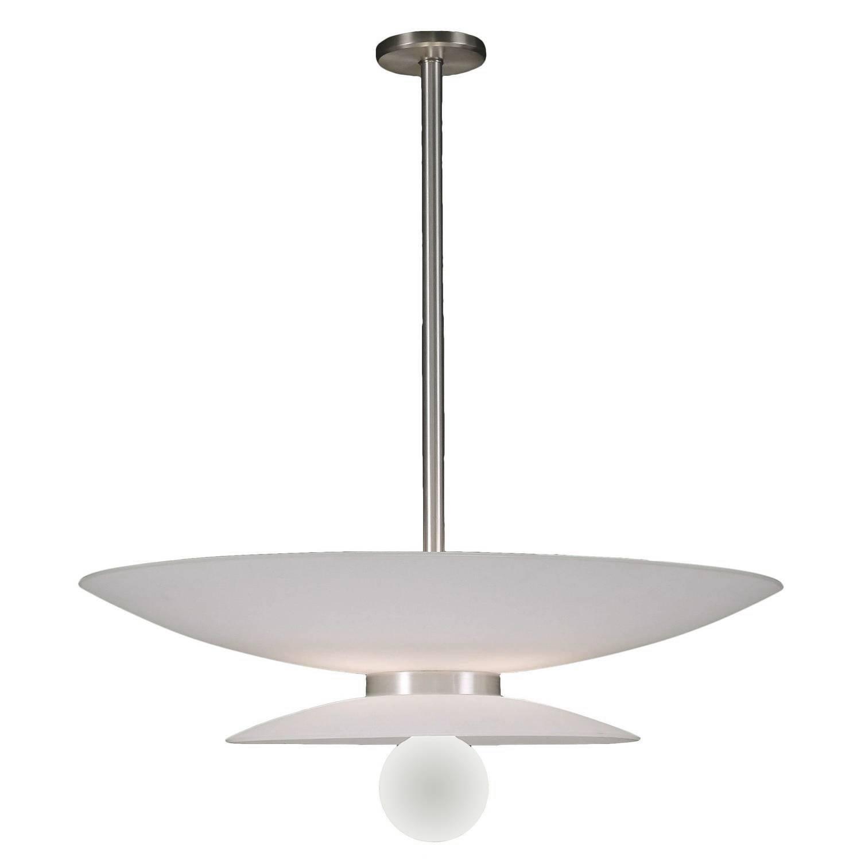"Duesenberg No. 040 Large 32"" Diameter White Glass Pendant"