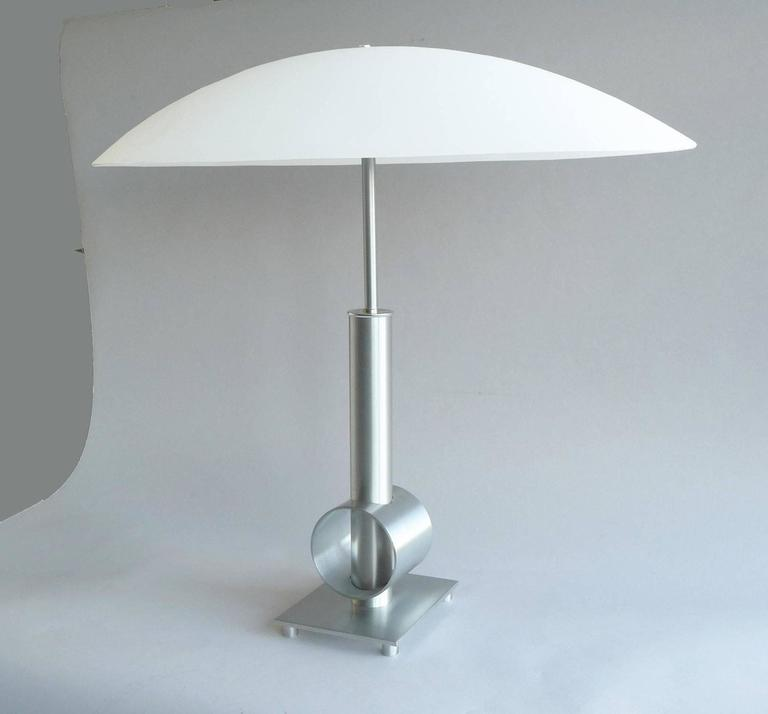 style table lamp with large oval glass shade for sale at 1stdibs. Black Bedroom Furniture Sets. Home Design Ideas