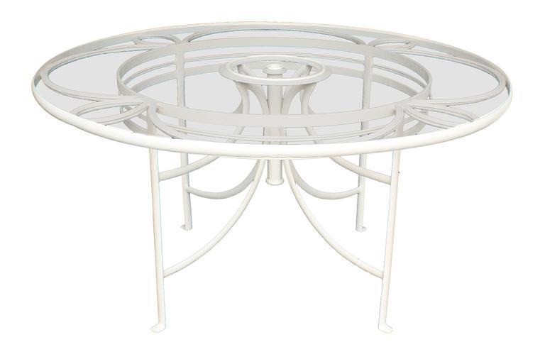 Garten Glastisch.Garten Glastisch Aus Weißem Eisen Mit 12 Stühlen Frankreich 1930er Jahre