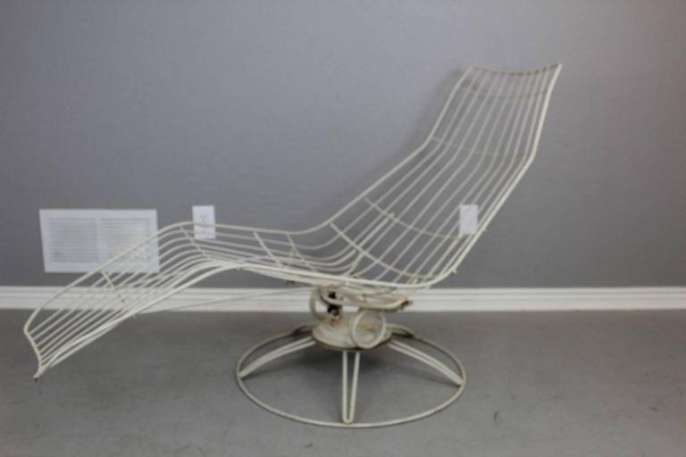 Made By Homecrest In The 1960s, This Banana Swivel Lounge Chair Has The HC  Mark