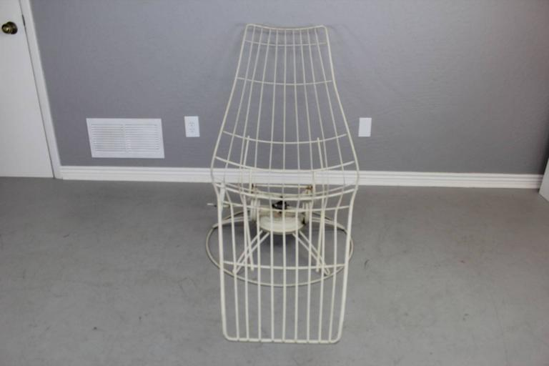 Homecrest Metal Wire Banana Lounge Chair At 1stdibs