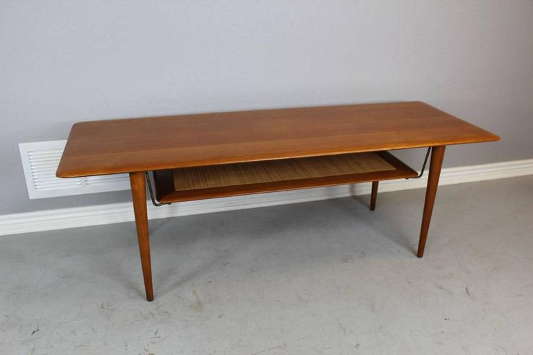 Mid-Century Modern Peter Hvidt Solid Teak Coffee/Cocktail Table for France & Sons For Sale