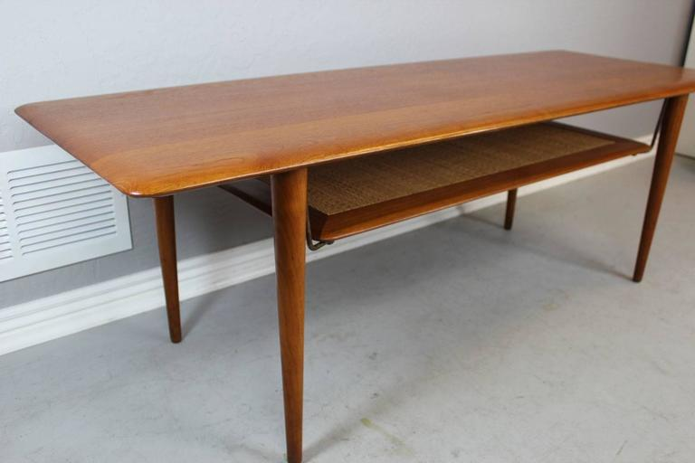 Mid-20th Century Peter Hvidt Solid Teak Coffee/Cocktail Table for France & Sons For Sale