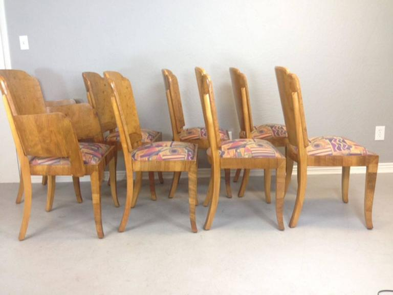 Marcel Guillemard Art Deco Dining Table and Eight Chairs For Sale ...