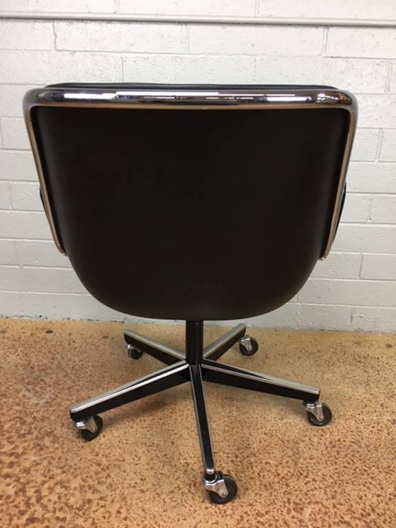 Charles Pollock Leather Executive Office Chairs for Knoll 3