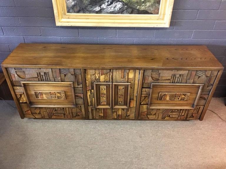 Brutalist Dresser By Lane For Sale At 1stdibs