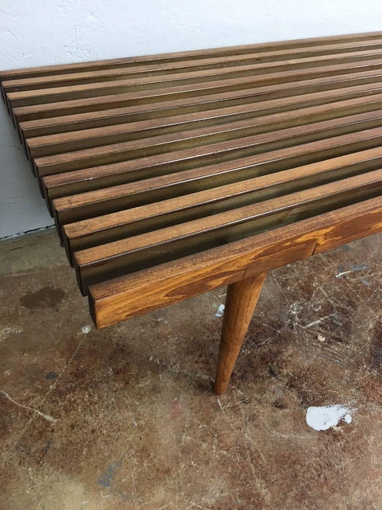 Slat Bench Or Coffee Table At 1stdibs