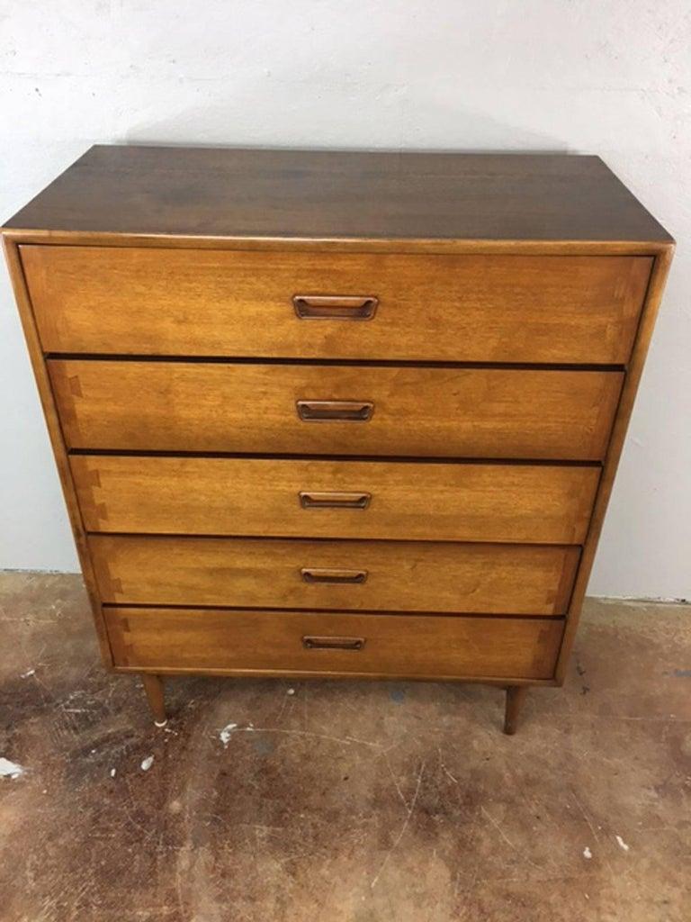 Lane Highboy Five Drawer Dresser For Sale At 1stdibs