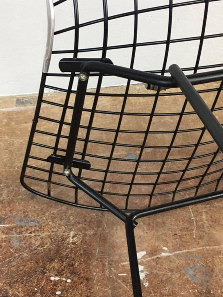 Steel Harry Bertoia Black Wire Side Chair for Knoll For Sale