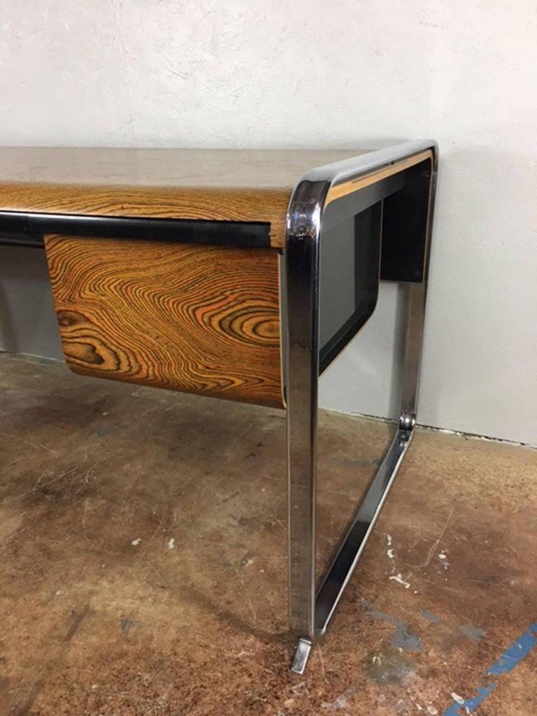 Peter Protzman Zebra Wood Desk By Herman Miller 2
