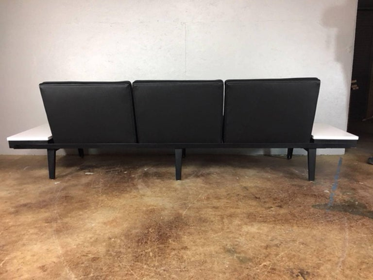 Mid-20th Century George Nelson Steel Frame Sofa For Sale