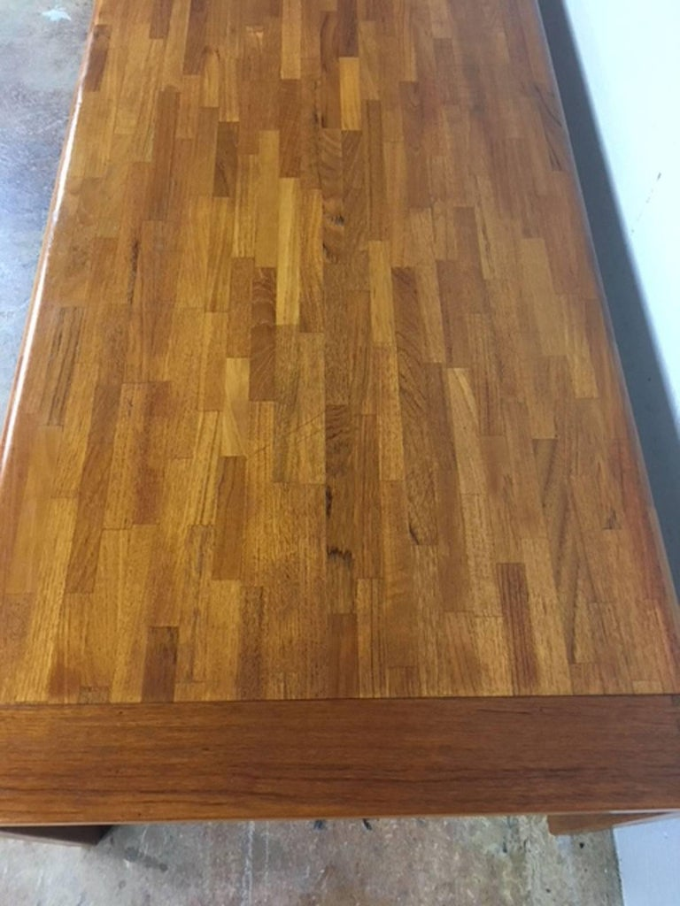 Danish Teak Patchwork Coffee Table For Sale