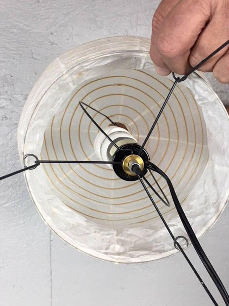 Steel Isamu Noguchi Akari Series Table Lamp For Sale