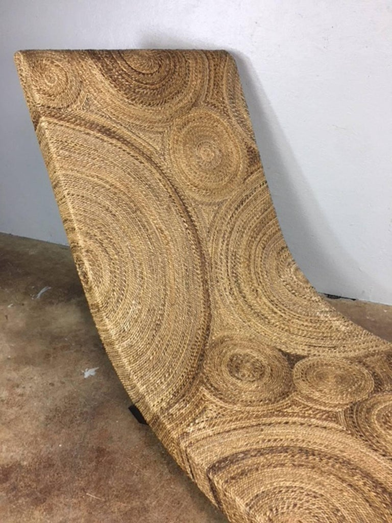 Twine Wrapped Chaise Lounge Chair At 1stdibs