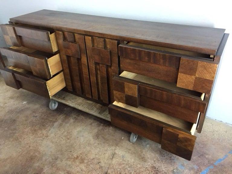 Patchwork Brutalist Dresser or Credenza by Altavista Lane 5