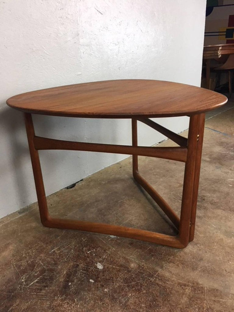 Mid-20th Century Peter Hvidt Folding Side Table in Teak For Sale