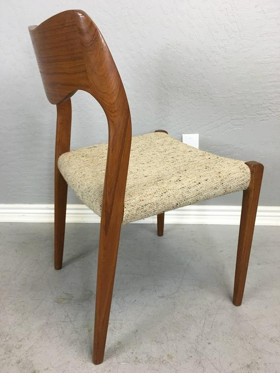 Pair of J.L. Moller Teak Dining Chairs In Excellent Condition For Sale In Phoenix, AZ