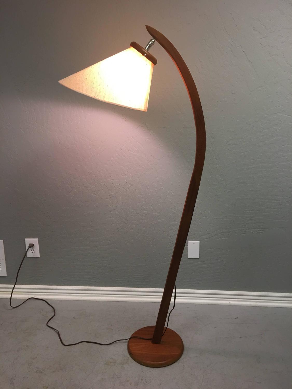 Danish Inspired Teak Floor Lamp Circa 1960 Mid Century Modern For Sale At 1stdibs