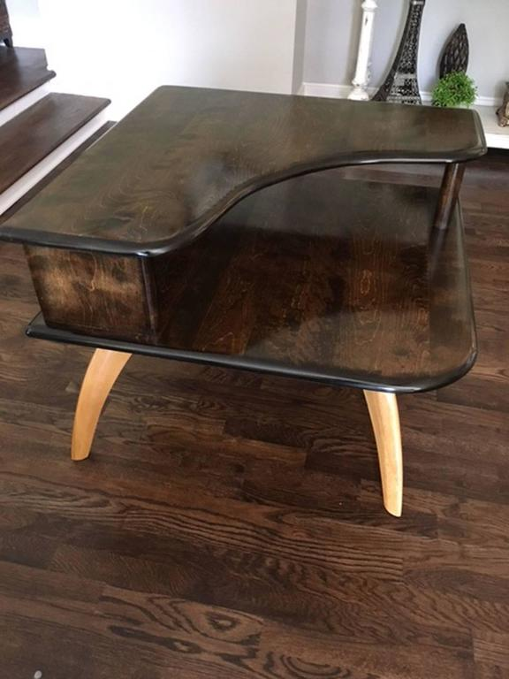 HeywoodWakefield Corner Table With Atomic Legs At Stdibs - Mid century modern corner table