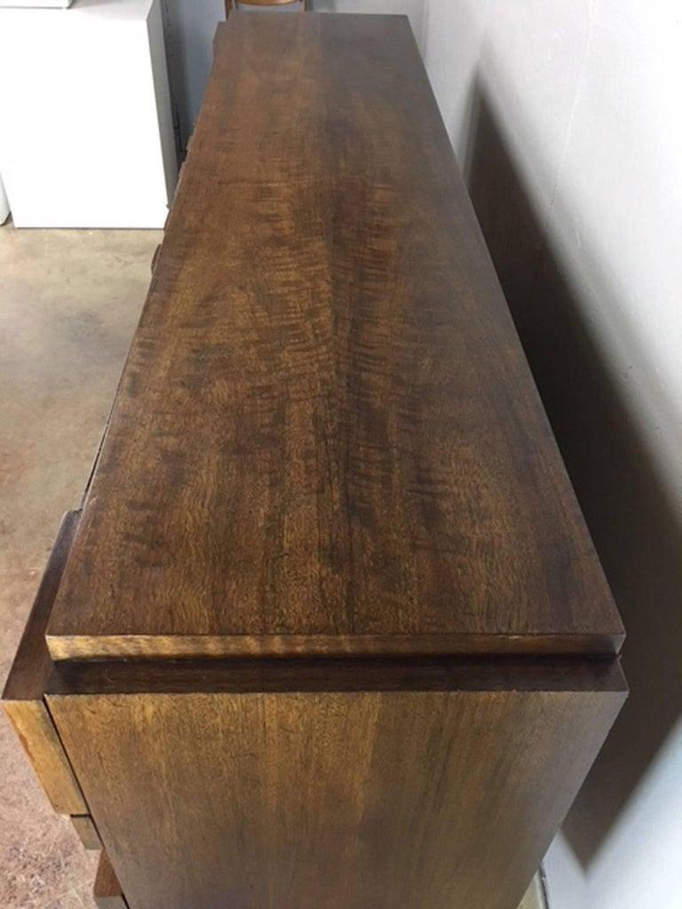 Patchwork Brutalist Dresser or Credenza by Altavista Lane 6