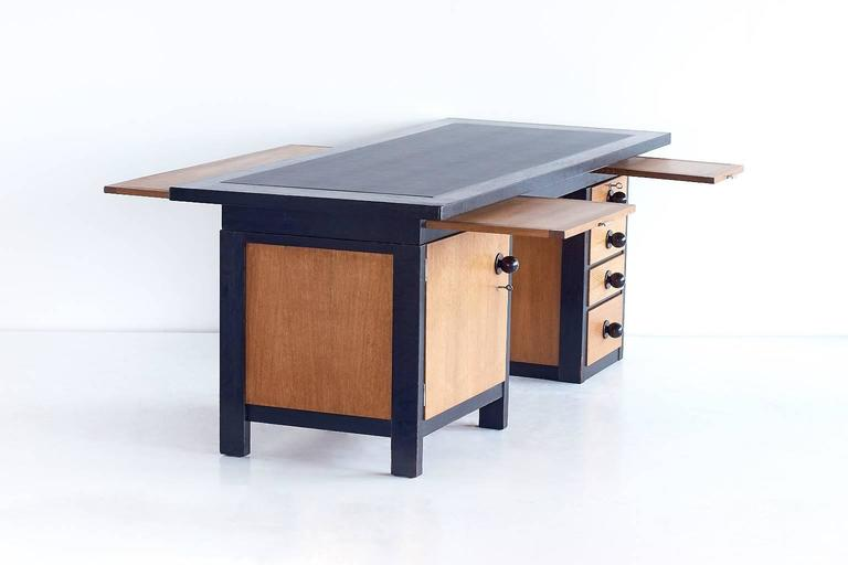 Oak Important Architect's Desk by Frits Spanjaard, 1932 For Sale