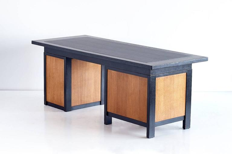 Stained Important Architect's Desk by Frits Spanjaard, 1932 For Sale